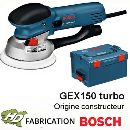 ponceuse professionnelle 600 w bosch gex150 turbo. Black Bedroom Furniture Sets. Home Design Ideas