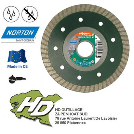 disque diamant Norton Clipper Dynamic 180 mm