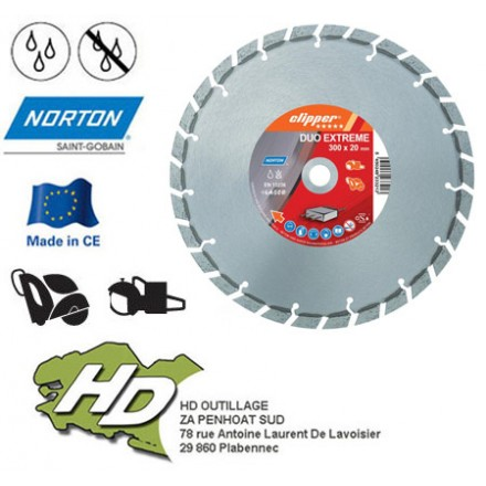 disque diamant Norton duo extreme 300 mm