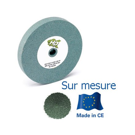 meule verte touret carbure de silicium 250x20x76 mm