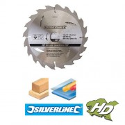 lame scie circulaire carbure 190 mm 24 dents Silverline