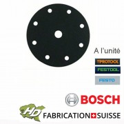 disque carbure silicium 125mm 9 trous grain 80 à 1200 FESTOOL