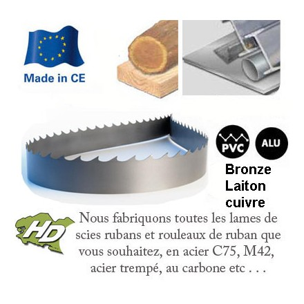 lame scie ruban au carbone 1712x10mm
