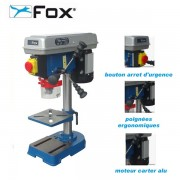 perceuse àcolonne Fox F12-921A 350W mandrin 13 mm