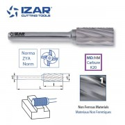 fraise rotative carbure Izar cylindrique ZYA denture 1 de 3 à 25 mm