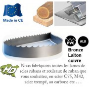 lame scie ruban au carbone 2550x25 mm