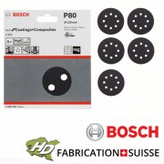 disque Bosch carbure de silicium 125mm 8 tr grain 80 à 1200