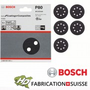 disque Bosch carbure de silicium 115mm 8 tr grain 80 à 1200