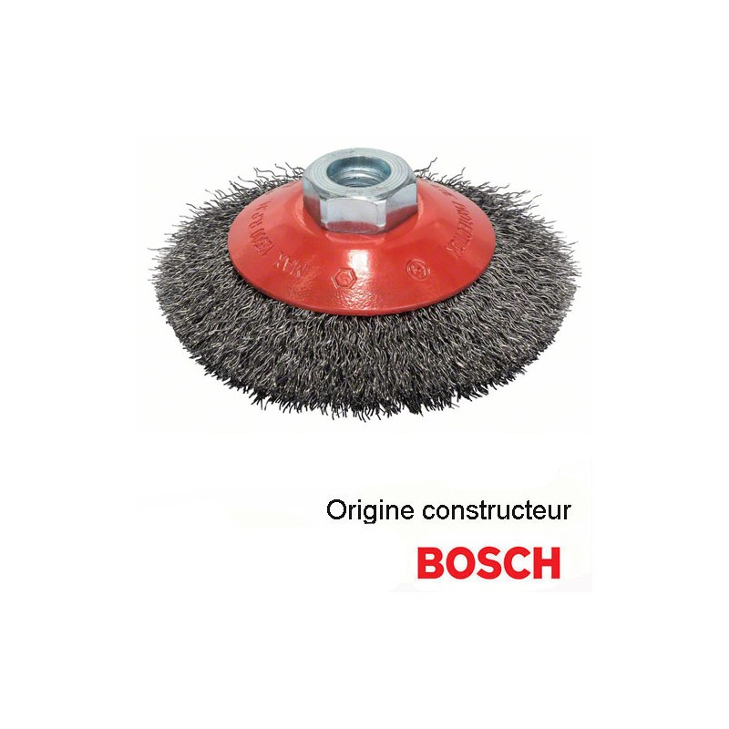 brosse m tallique conique bosch 115 mm pour meuleuse hd. Black Bedroom Furniture Sets. Home Design Ideas