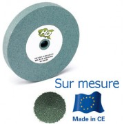 meule verte touret carbure de silicium 200x30x76,2 mm